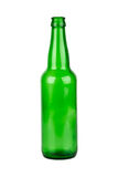 Empty green beer bottle Royalty Free Stock Photography