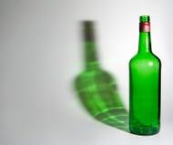 Empty green bottle Stock Photos