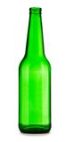 Empty green bottle of beer Royalty Free Stock Photo