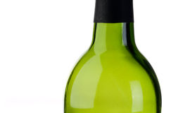 An empty green bottle of wine Royalty Free Stock Photo