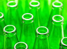 Empty green bottles Stock Photography