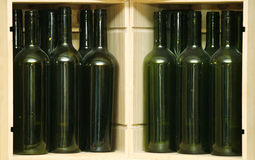 Empty green bottles Stock Images