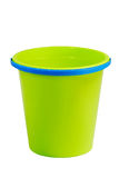 Empty green bucket Royalty Free Stock Photography