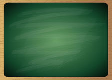 Empty green chalk board with wooden frame Royalty Free Stock Image