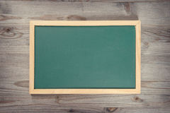 Empty green chalkboard Royalty Free Stock Image