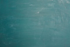 Empty green chalkboard with chalk as background Royalty Free Stock Image