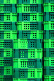 Empty green crate Royalty Free Stock Photo