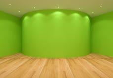 Empty Green Curve Room Royalty Free Stock Photo