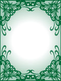 Empty green frame background. Made from swirls and stripes Stock Photos