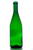 Empty green glass bottle Stock Photography