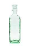 Empty green glass bottle Stock Images