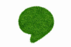 Empty green grass blank Stock Images