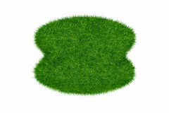 Empty green grass round blank Royalty Free Stock Photo
