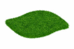 Empty green grass wave blank isolated 3d model Royalty Free Stock Photos