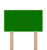 Empty green highway sign Royalty Free Stock Photography
