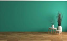 Empty green interior. 3d illustration Stock Images