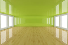 Empty green interior room Royalty Free Stock Photography