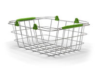Empty green metal basket Royalty Free Stock Photos
