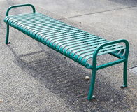 Empty green metal bench Royalty Free Stock Photos