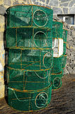 Empty Green Net Fish Traps Royalty Free Stock Images