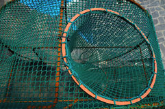 Empty Green Net Fish Traps Royalty Free Stock Image
