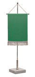 Empty green pennant. Stock Image