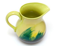 Empty green pitcher Stock Images
