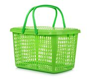 Empty green plastic basket Royalty Free Stock Photography