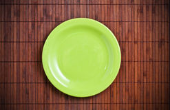 Empty green plate. Royalty Free Stock Photo