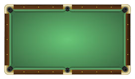 Empty green pool table Stock Photos