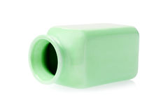 Empty Green Porcelain Container Stock Image