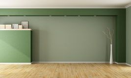 Empty green room Royalty Free Stock Photography