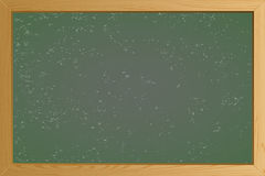Empty Green School Chalkboard Background Texture With Frame Template For Your Design Vector Illustration