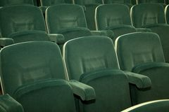 Empty green seats Stock Images