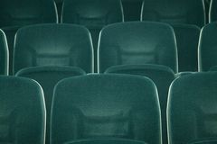 Empty green seats Stock Photography