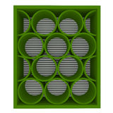 Empty green shelves rounded royalty free illustration