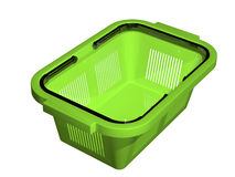 Empty green shopping basket Royalty Free Stock Photos