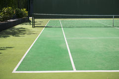 Empty green tennis court Royalty Free Stock Image