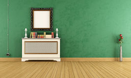 Empty Green vintage living room Royalty Free Stock Images