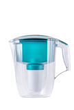 Empty green water filter. Stock Photo