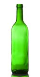 Empty green wine bottle Stock Images