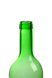 Empty green wine bottle isolated Royalty Free Stock Photography
