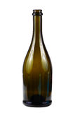 Empty green wine bottle Stock Image
