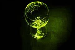 Empty green wine glass Stock Photo