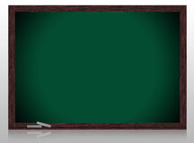 Empty Greenboard with wooden frame. Isolate on white background Stock Image