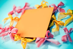 Empty greeting card Royalty Free Stock Photo