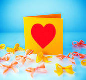 Empty greeting card Stock Images