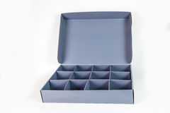 Grey paperboard container Royalty Free Stock Photography