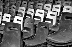 Empty grey chairs Royalty Free Stock Images