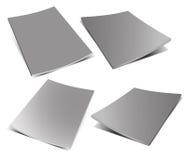 Empty grey magazine on white Royalty Free Stock Images